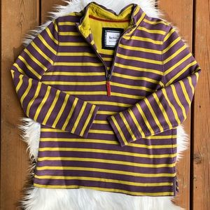 [Boden] Purple & Yellow Quarter Zip Sweatshirt - M